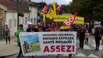 Manifestion dans le Médoc en Gironde contre les insecticides