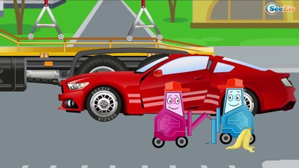 Red Race Cars & Sports Car Crash | Service & Emergency Vehicles Cars & Trucks Cartoon for children