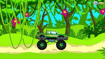 СБОРНИК: Мультфильмы про Машинки Монстр Трак ГОНКИ В ГОРОДЕ - Развивающие видео для детей