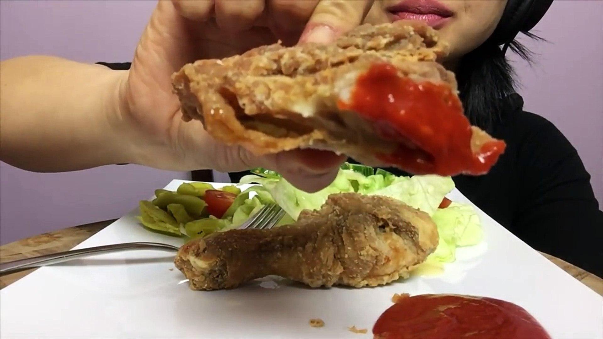 ASMR FRIED CHICKEN LETS GET COOKING (SATISFYING EATING SOUNDS) No Talking | SAS-ASMR