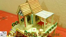 How to Make a Beautiful Popsicle Stick House || Popsicle Stick Craft || Ice Cream Stick Craft