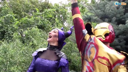 Frozen Elsa & Spiderman Princess Anna Joker! Maleficent eye doctor! Superheroes in Real Life!