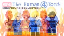 Marvel Fantastic Four Flame On! Unofficial LEGO Minifigure Collection w/ Doctor Doom & Galus