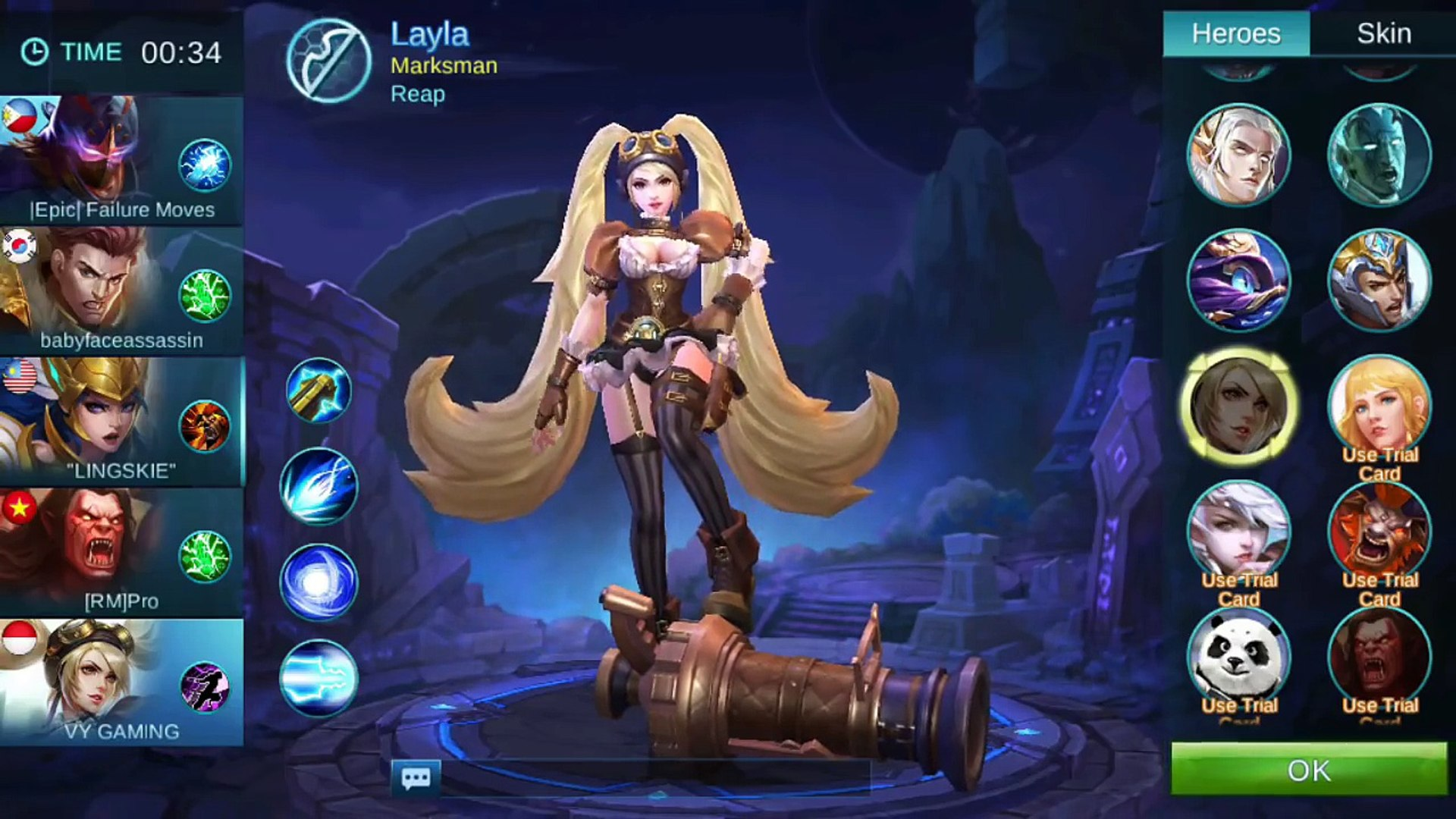 Mobile Legends New LAYLA Model Malefic Gunner Gameplay With Critical Item Build [MVP]