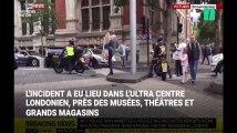 Londres: les images impressionnantes de passants plaquant un homme à terre après la collision