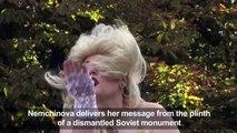 Femen's Marilyn Monroe sings Happy Birthday to Putin