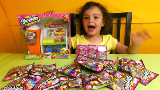 BIG Shopkins surprise toys special edition blind bags, Fruit and Vegetable Stand Playset