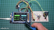 Arduino Project: Wireless Weather Station using Arduino Due, DHT22 sensor and NRF24L01+ modules!