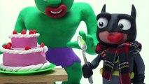 HULK's SICK AGAIN! Snot Slimes Superheroes Batman and Elsa Stop Motion Animations Play Doh