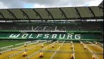 Impressionnant : le stade de Wolfsburg lors de la tempête