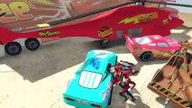 Disney Pixar Cars Lightning McQueen Helicopter, Tow Mater, Mack Truck, Dinoco McQueen & Spiderman