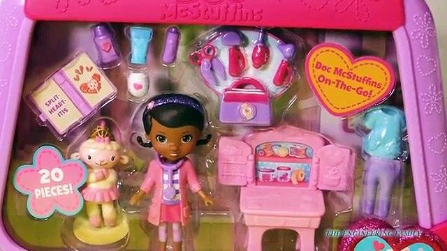 DOC MCSTUFFINS Disney Doc McStuffins On the Go Lambie Doc McStuffins Toys Video Review