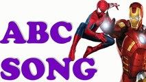 ABC Song with Superheroes SpiderMan SuperMan Hulk Batman ironman | alphabets rhymes