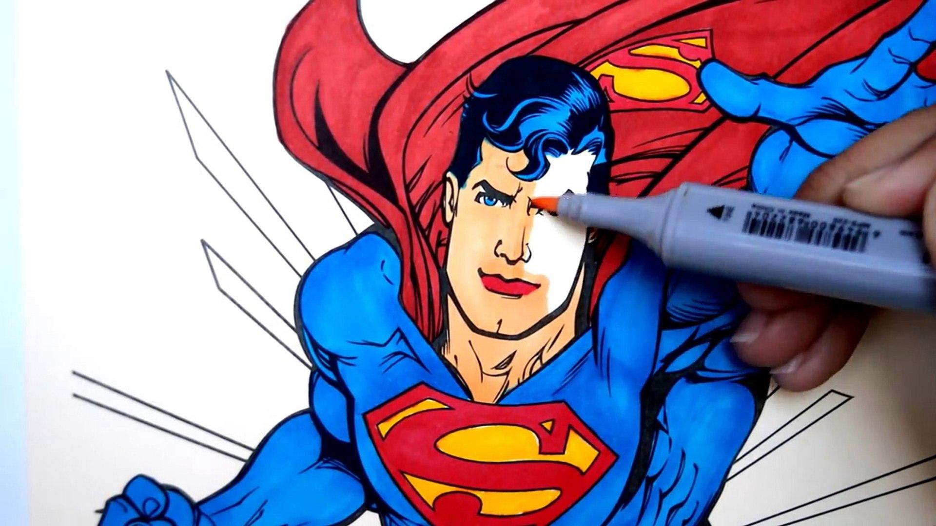 DISNEY SUPERHEROES Coloring Book Pages Superman Spiderman Kids Fun Art Activities Kids Balloons Toys