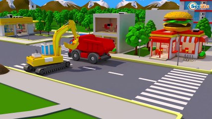 NOVO! Grande Trator o e Rápido Carro   Desenhos animados carros bebês compilação de 54 min carro