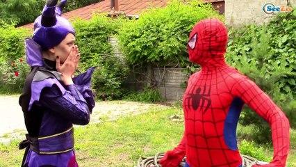 Spiderman vs Ironman and Frozen Elsa Superhero in Real Life!