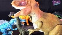 LIGHT and SOUND DINOSAURS! Walking Dinosaur toys collection for kids Tyrannosaurus Rex Spinosaurus!
