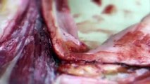 Surgical incision - Sculpting with modelling wax SFX makeup tutorial