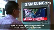 """Pyongyang revendique l'essai """"réussi"""" d'une bombe H"""