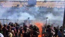 Spectators suffer serious injuries after car sprays burning fuel at motor event