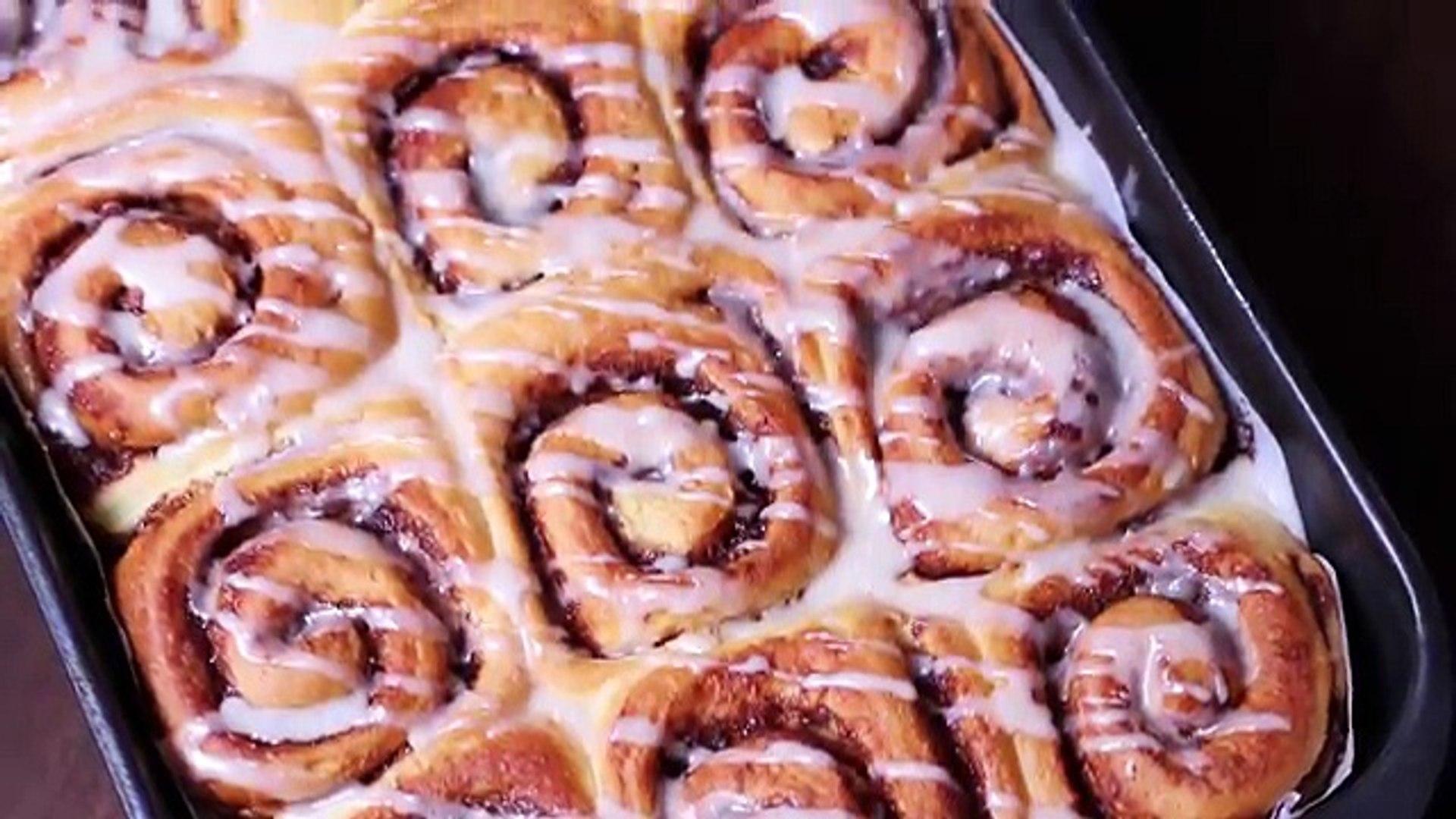 Homemade Cinnamon Rolls Recipe Laura Vitale Laura In The Kitchen Episode 300 Video Dailymotion