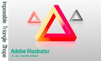 Adobe Illustrator cc 2015 Tutorial  New Impossible Triangle Shape || Ju Joy Creative Cloud ||