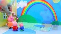 Nouveau enfants pour dessins animés Peppa Pig Peppa Pig arc en ciel après la pluie