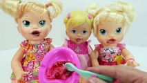 Bébé vivant pot entraînement bébé poupée en train de manger aliments alimentation bébé poupée jouet vidéos