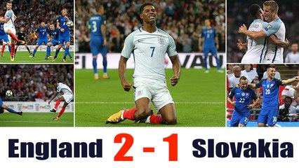 England vs Slovakia 2-1: All Goals & Highlights - 4.09.2017 HD - Marcus Rashford makes amends with stunning Wembley winner