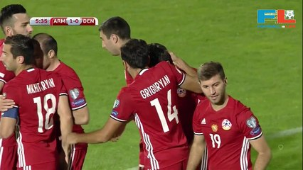 Christian Eriksen scores stunning free-kick for Denmark against Armenia, Denmark beats Armenia 4-1