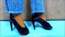 Doll Fashion DIY   How to Make Doll Shoes   Doll Flats   Miniature Shoes