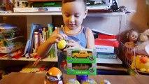Coches huevos huevos huevos Niños sorpresa para Kinder huevos sorpresa carretilla máquinas Welly unboxing de sorpresas