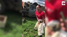 Il réalise le pari stupide de s'asseoir cul-nu sur des ruches d'abeilles pour 600e