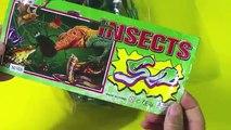 Coloré insecte plastiques petit jouet petit jouet en plastique coloré insecte sur le film de