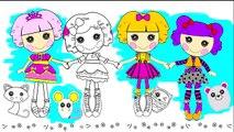 Lalaloopsie couleur moi poupée entaille peindre dessiner timbre effacer coloration lettres et artisanat jouets avec