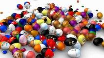 Et enfants les couleurs des œufs pour gelé enfants Apprendre farce homme araignée avec Surprise 3d mcqueen