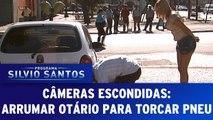 Câmeras Escondidas - Arrumar Otário Para Trocar Pneu - 03.09.17