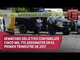 Aumenta en México el número de homicidios, secuestros y extorsiones