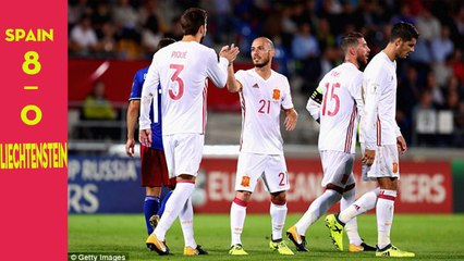 Liechtenstein 0-8 Spain: Alvaro Morata and Iago Aspas at the double as visitors confirm play-off spot | FOOTBALL IS LIFE