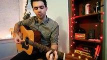 Un et un à un un à acoustique et Noël guitare ont petit joyeux populaire vidéos toi même