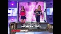 WWE RAW November 6, 2005, Candice Michelle & Victoria vs Mickie James & Trish Stratus