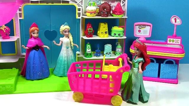 Queen Elsa Shopkins Small Mart Shopping GIANT CART Disney Frozen Fever Princess Anna Doll