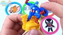 Les couleurs crème tasses la famille doigt de la glace enfants Apprendre garderie pâte à modeler Princesse super-héros disney