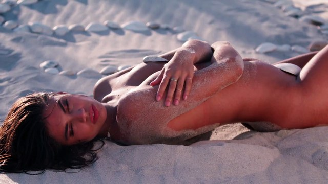 Sara Sampaio Wears Nothing But Seashells By The Seashore - Sports Illustrated Swimsuit