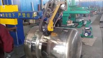 Stainless steel tank container polishing grinding machine for outside and inside