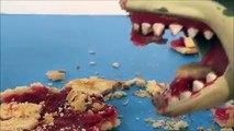 Défi en train de manger bats toi aliments désordonné tartes requin requins jouet Style 2