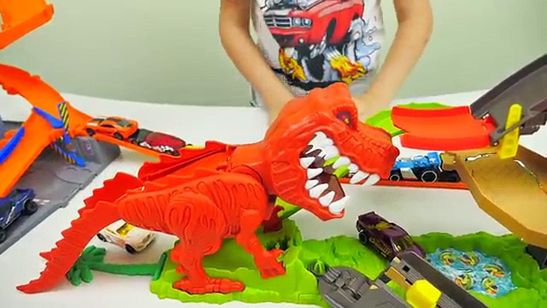 ХОТ ВИЛС АТАКА ДИНОЗАВРА/ Hot Wheels Dinosaur T-REX /Cars for Kids/мультф