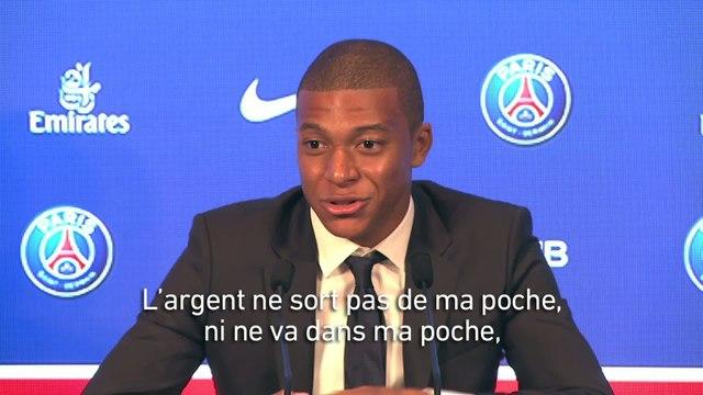 Foot - L1 - PSG : L'essentiel de la conférence de présentation de Kylian Mbappé