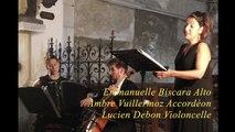 """Air """"Sehet, Jesus hat die Hand"""" J.S Bach Concert de Cruzy le Châtel"""