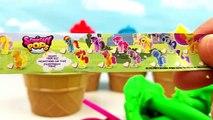 Enfants les couleurs crème petits gâteaux des œufs de la glace enfants Apprendre jouer enseigner tout petit Compilation doh surp